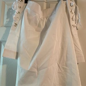 Shirt- White Off the Shoulder